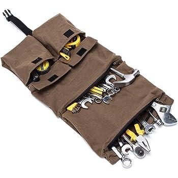 Copechilla trousse /à outils enroulable portable professionnel,22 compartiments et 1 douille sac-15 Trou,Mat/ériel 600D Oxford double /épaissie imperm/éables,59X36CM,Sacoche /à outils m/écanicien automobile