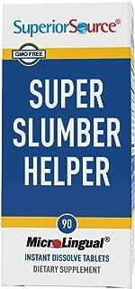 Superior Source Super Slumber Helper, Quick Dissolve Sublingual Sleep Tablets, 90 Count, Melatonin (5 mg), Valerian, Chamo...