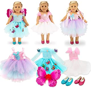 Eledoll Doll Clothes Lot Dress Up Fairy Wings Dress Shoes FITS Disney Fairies