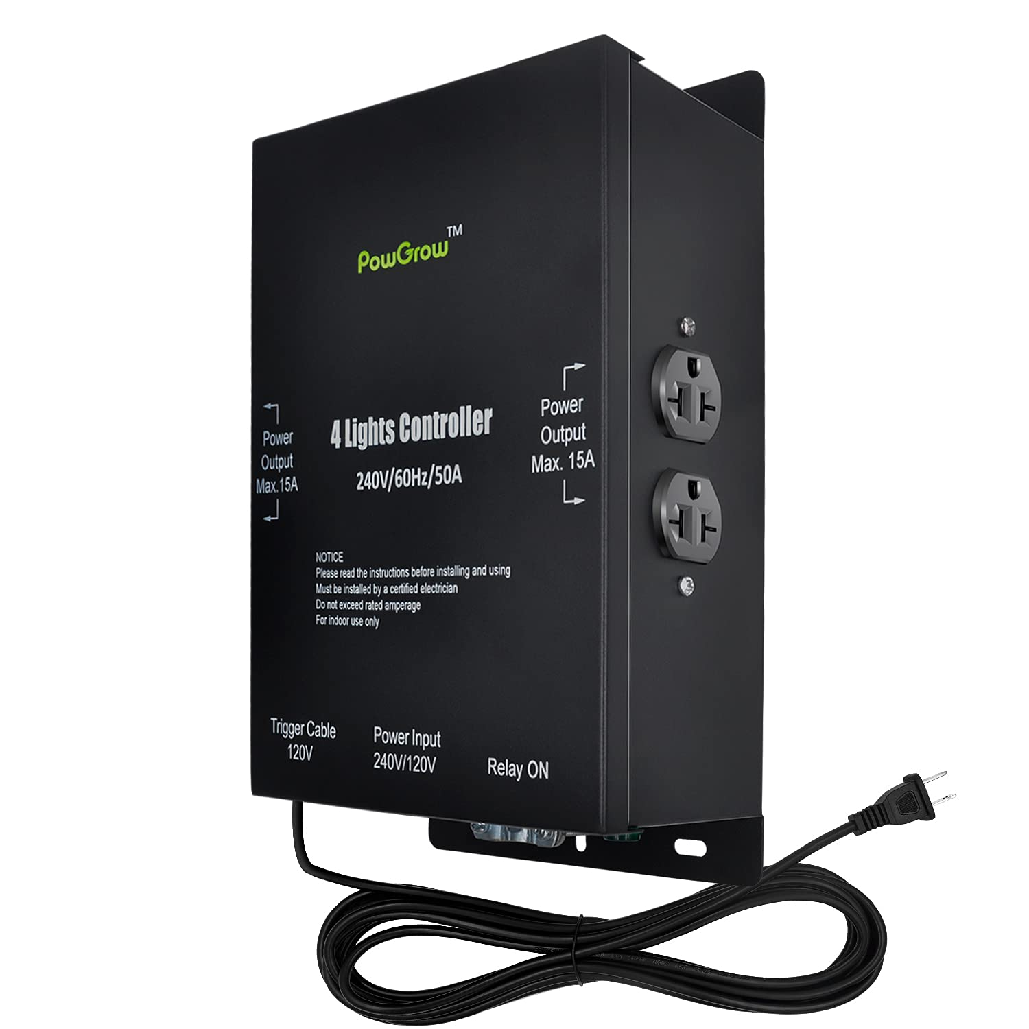 PowGrow 4-Light Direct stock discount Relay Nashville-Davidson Mall Trigge with Controller