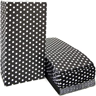 Black Polka Dot Paper Bags Mini Party Favor Bags for Kids Birthday Party Supplies by ADIDO EVA(50 PCS 3.5 x 2.3 x 7 in)