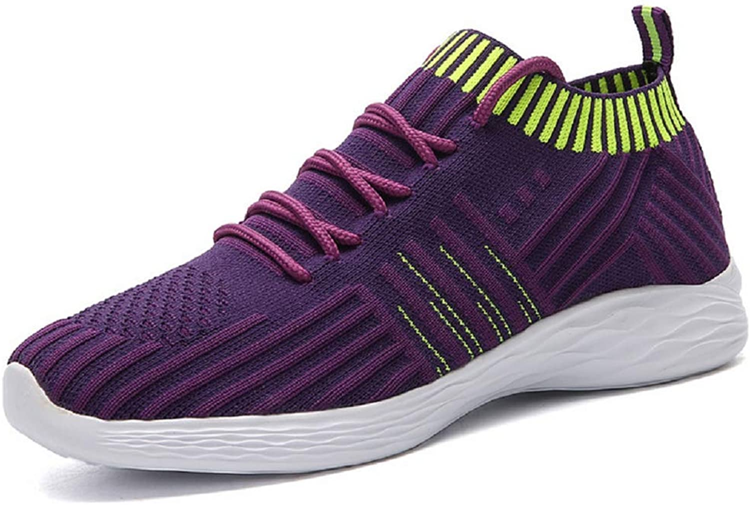 JiYe Running shoes Womens Fashion Casual Soft Flyknit wrap up Sneakers