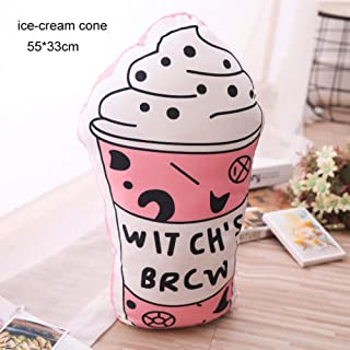 1Pcs Fashion Life Plush Pillow TV Cell Phone Ice-Cream Cone Canvas Shoes Magnetic Tape Lip Young Person Boys Girls Decor Throw Pillow @ 35Cm_1