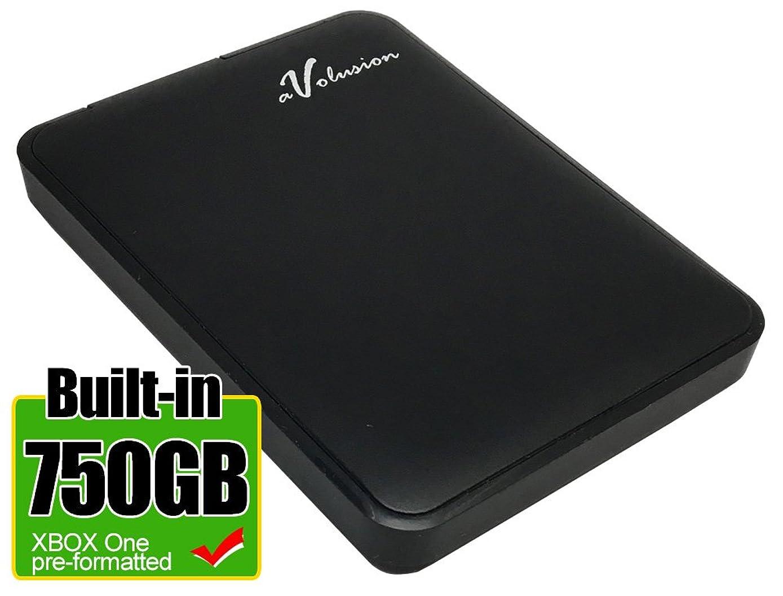 Avolusion HD250U3-Z1-XBOX 750GB USB 3.0 Portable External Xbox One Hard Drive (Xbox One Pre-Formatted, Works for Xbox One, Xbox One S, Xbox One X) - w/2 Year Warranty