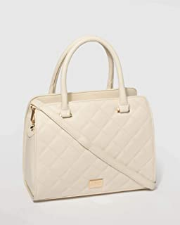 Ivory Tina Quilted Tote Bag