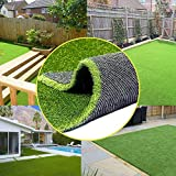 · Petgrow · 0.8inch Realistic Synthetic Artificial Grass Turf 8FTX8FT(64 Square FT),Thick Faux Grass Indoor Outdoor Landscape Lawn Pet Dog Turf Carpet for Garden Backyard Balcony