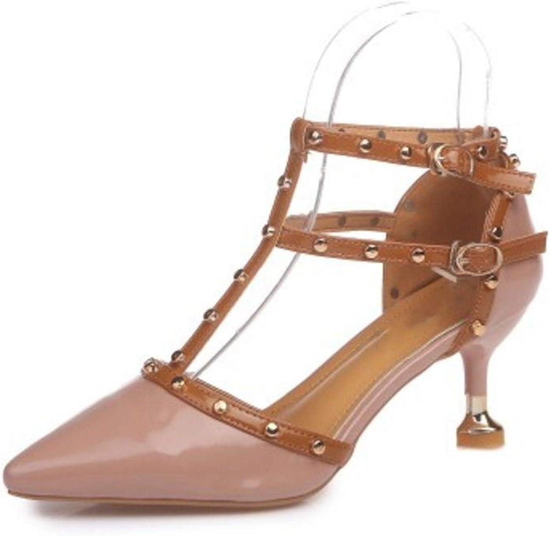 4 colors Women High Heel Sandals Buckle Rivets Strange Heels Women Sandals Fashion shoes