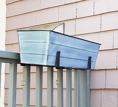 Achla Designs C-20NB Window Box, Medium, Nantucket Blue