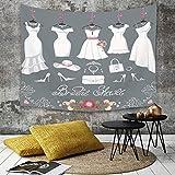 Yaoni Tapestry Pared paño Mantel Toalla de Playa,Decoraciones de Despedida de Soltera, Vestido de Novia con Detalles de Novia Bolsos Flor,Decoraciones para el hogar para la Sala de Estar Dormitorio