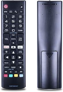 TVリモコン LG TV専用 テレビリモコン 汎用 シンプル 設定不要 簡単操作 AKB75095307 32lj550b 55lj5500 55uj6050 98UH9800 86UH9500 75UH8500 75UH6550 70UH6350 70UH6330 65UH9500 65UH8500 65UH7700 65UH7650 65UH7500 65UH6550 65UH615A 65UH615A 等の機種に対応 (ブラック)