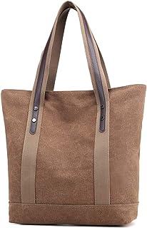 Iswee women Canvas Tote Handbags Shoulder Bag Daily Purses Top Handle Satchel Handbags Shopping Bag