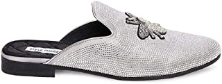 Steve Madden Womens Buzz Silver Size: 10