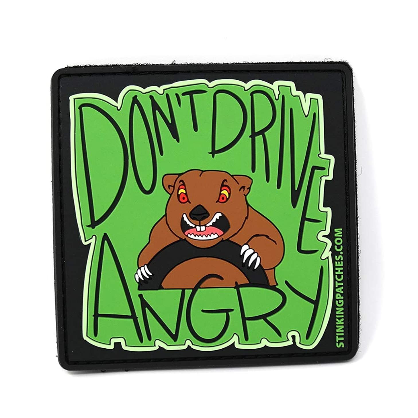 Don't Drive Angry PVC Tactical Patch | Groundhog Day Inspired | Funny Morale Patch