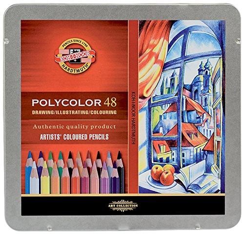 KOH-I-NOOR Polycolor Artist's Coloured Pencils (Set of 48)