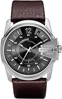 Diesel Mens Quartz Watch, Analog Display and Leather Strap DZ1206