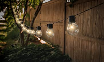 Solar String Lights Outdoor Water-Resistant 10 LED Lamp Bulbs Fabselection Outdoor Decorative String Lights for Garden Landscape Yard Patio Party Tree Atmosphere Decoration