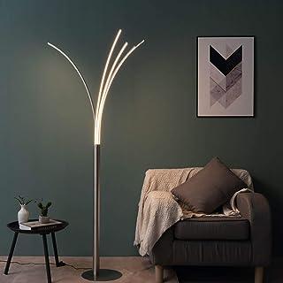 KOSILUM - Lampadaire design à bras LED design H180 cm - Livorno - Lumière Blanc Chaud Eclairage Salon Chambre Cuisine Coul...
