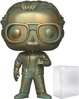 Marvel: Stan Lee (Patina) Funko Pop! Icons Vinyl Figure (Includes Compatible Pop Box Protector Case)