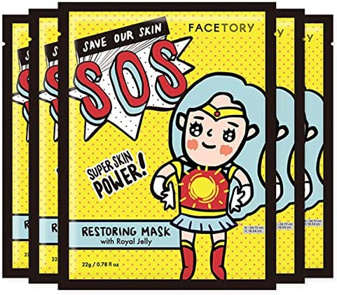 FaceTory SOS Royal Jelly Restoring Mask Soothing Healing Moisturizing Pack of 5 product image