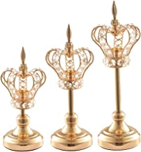 Fenteer 3pcs Gold Candlestick Ornament Tea Light Holder Photo Prop Table Decor