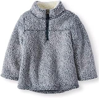 Wonder Nation Baby Toddler Boys & Girls Mock Neck Quarter Zip Sherpa Pullover