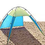 UV Sun Shade Shelter Beach Tent Canopy for 3-8 Person