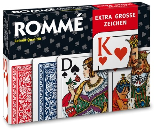 10397 - King Cards - Rommé Black Line, Extra Groß