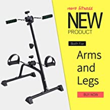 Synteam Compact Exercise Bike Arms and Legs Adjustable Fit Sit Peddler Exerciser for Elder