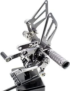 PROCNC Motorcycle Aluminum Adjustable Rearsets Foot pegs Rear sets Footrest fit for Suzuki GSXR1000 2000-2004,GSXR750 1996-2005, GSXR600 2000-2005, SV650 SV650S SV1000 SV1000S 1998-2014