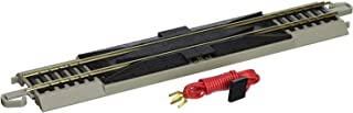 "Bachmann Trains - Snap-Fit E-Z Track 9"" Straight Terminal Rerailer w/Wire (1/card) - Nickel Silver Rail With Gray Roadbed - HO Scale"