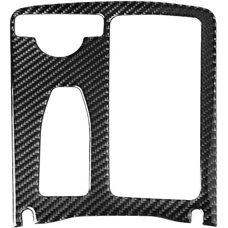 Wroadavee Kohlefaser Mittelkonsole Dekors Getränkehalter Rahmen Blende 1 Stück Auto