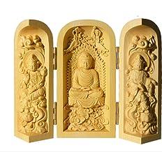 ZGPTX Huang Yangmu Buddha Statue Pose Three Open Buddha West Three Holy Guanyin Small Pose with The Buddha Statue