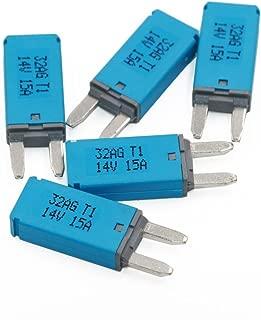 5pcs 15A Auto Reset T1 Circuit Breakers ATM Mini Blade Fuses for 12V dc Car RV Motors
