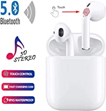 Wireless Earbuds Wireless Bluetooth Headphones,2019 Latest Intelligent Noise Reduction immersive sound (Support Fast Charging) Pop-ups Auto Pairing for Samsung Apple Airpods Sports Earbuds