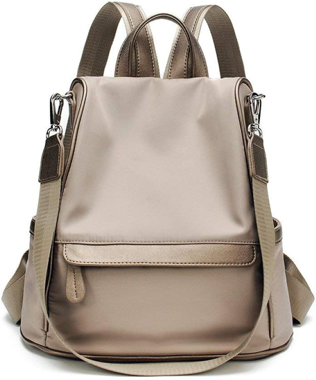 Crystallly Anti Diebstahl Rucksack Weibliche Sommer Neue High Capacity Oxford Daypack Einfacher Stil Freizeit Reisetasche Schultasche Handtasche, (Farbe   Khaki, Größe   One Größe)