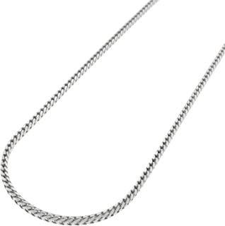 """Authentic Solid Sterling Silver Franco Square Box Link .925 Rhodium Heavy-Duty Necklace Chains 1.5MM 2MM 2.5MM 3MM 3.5MM 4.5MM, 16"""" - 30"""", Made In Italy, Men & Women, Next Level Jewelry"""