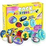 Lekebaby Juego de pintura con piedras, juego de manualidades para niños y niñas a partir de 3 años