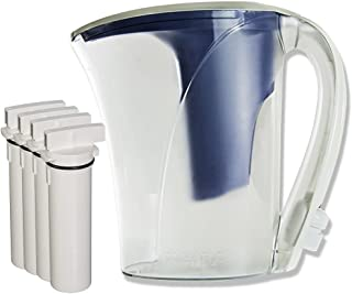 Clear2o CWS100 Water Filter Pitcher System Designed with Quick Connect Technology (4 Filters Included)