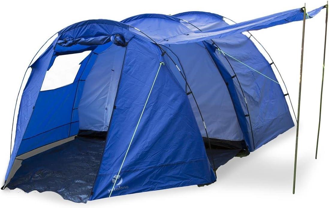Yukatana Jomida Tienda campaña túnel para 4 Personas, Ideal Camping