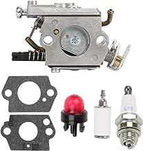 Buckbock C1Q-EL24 Carburetor for Husqvarna 123C 123L 123LD 223L 223R 322C 322L 322R 323C 323L 325C 325CX 325L 325LX 326C 326L 326LX String Trimmer 588171156 530071632 +Tune Up Kit