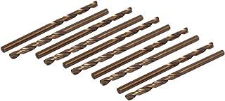 uxcell 8.5mm Dia 118mm Long M35 HSS Cobalt Round Shank 2-Flute Twist Drill Bits 3pcs