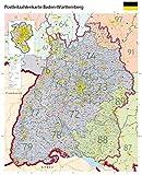 Postleitzahlenkarte Baden-Württemberg XL mit Laminierung (beschreib- und abwischbar): Maßstab: 1 : 250.000, Poster mit Laminierung und PLZ-Register, Auflage 2018