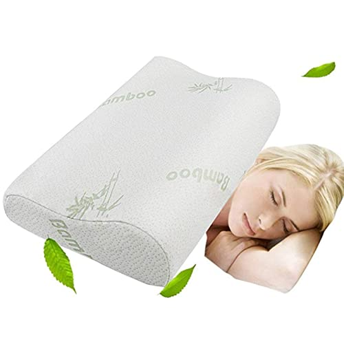 Memory Foam Neck Pillow - Contour Care Pillow Sleeper Orthopedic,  Anti Snore to Prime Soft Supportive Comfortable Washable Sleep Pillow 50×30cm