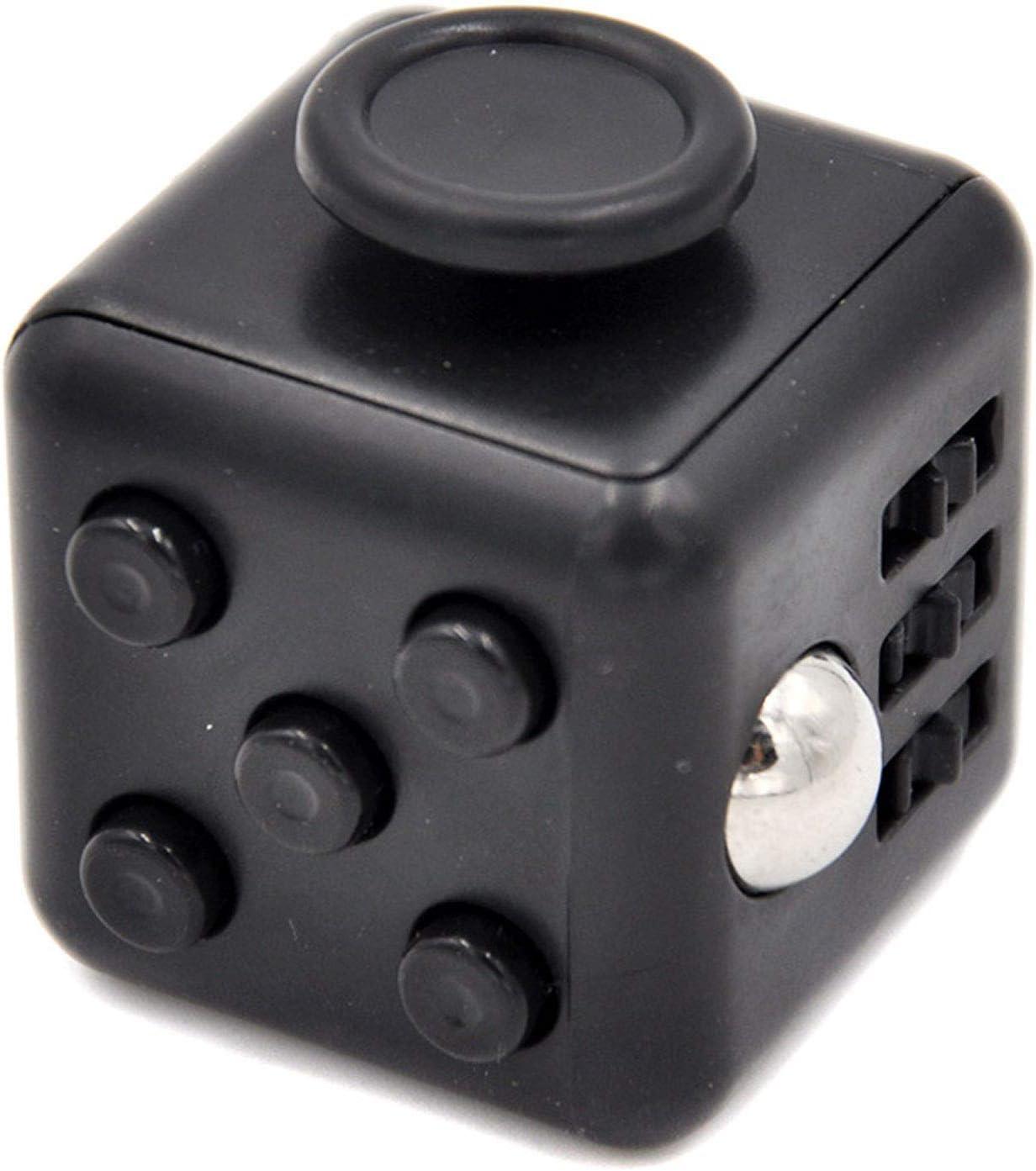 Fidget Stressw/ürfel mit 6 Seiten Tasten zum Stressabbau Golden zum Konzentrieren ADHD Autismus f/ür Erwachsene Kinder bei Angst Fidget Cube mit H/ülle Schreibtisch-Spielzeug Klicker Joystick