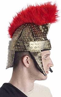 Forum Novelties Roman Gladiator Warrior Gold Red Costume Helmet