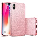 ESR Makeup Glitter Case for iPhone X/iPhone 10, Glitter Sparkle Bling Cover...