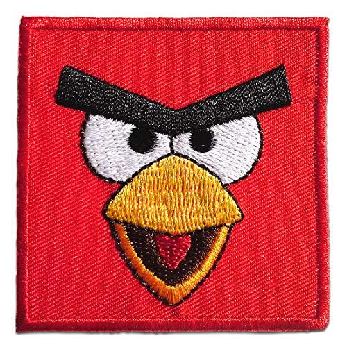 Parches - Angry Birds Comic niños - rojo - 5,8x5,8cm - termoadhesivos bordados aplique para ropa