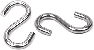 Zeltauto S Shaped Hooks Marine Grade 316 Stainless Steel Ultra Strong Heavy Duty Hammock Hanger for Hanging and Utility Use (3 in. Long, 2 Pcs)
