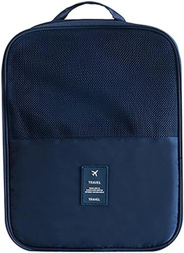 Nylon Shoe Bag Navy Blue S1095