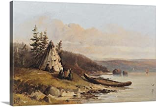 "GREATBIGCANVAS at Mahon`s Bay Looking Eastward, August 15th 1865"" Canvas Wall Art Print, 36""x24""x1.5"""